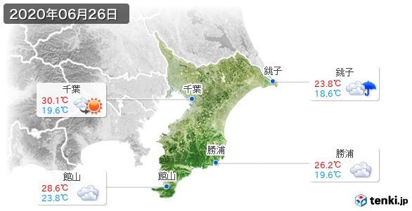 千葉県(2020年06月26日の天気