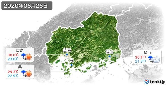 広島県(2020年06月26日の天気
