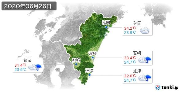 宮崎県(2020年06月26日の天気