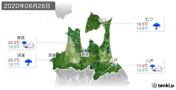 青森県(2020年06月26日の天気