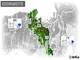 2020年06月27日の京都府の実況天気
