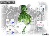 2020年06月27日の兵庫県の実況天気