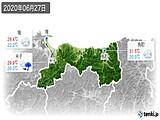 2020年06月27日の鳥取県の実況天気