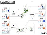 2020年06月27日の沖縄県の実況天気