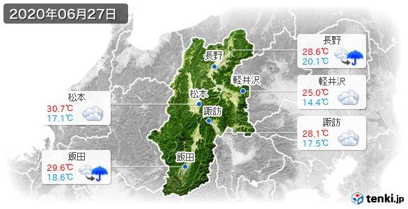 長野県(2020年06月27日の天気