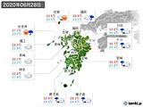 2020年06月28日の九州地方の実況天気