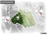 2020年06月28日の埼玉県の実況天気