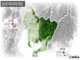 2020年06月28日の愛知県の実況天気