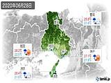 2020年06月28日の兵庫県の実況天気