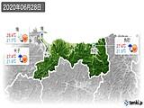 2020年06月28日の鳥取県の実況天気