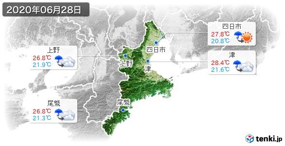三重県(2020年06月28日の天気