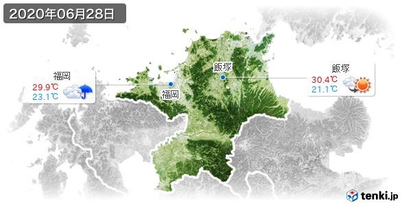 福岡県(2020年06月28日の天気