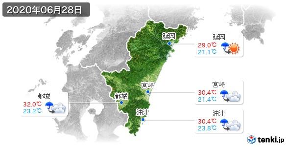 宮崎県(2020年06月28日の天気