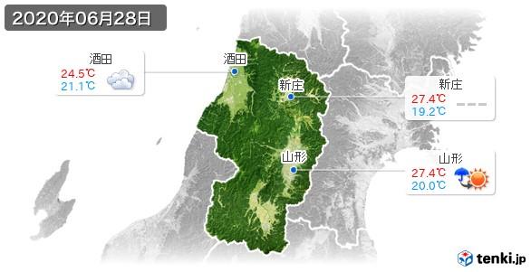 山形県(2020年06月28日の天気