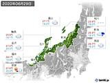 2020年06月29日の北陸地方の実況天気