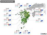 2020年06月29日の九州地方の実況天気