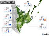 2020年06月29日の道東の実況天気