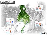 2020年06月29日の兵庫県の実況天気