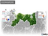 2020年06月29日の鳥取県の実況天気