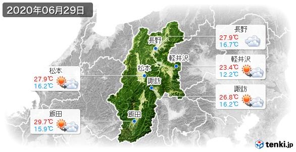長野県(2020年06月29日の天気