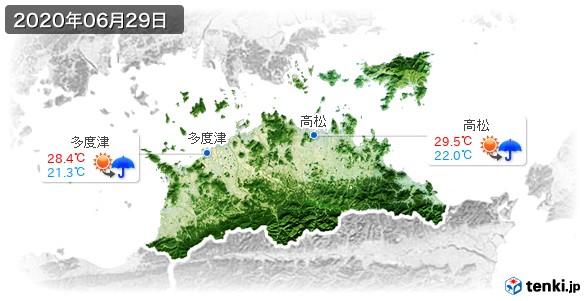 香川県(2020年06月29日の天気