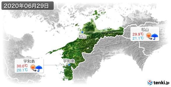 愛媛県(2020年06月29日の天気