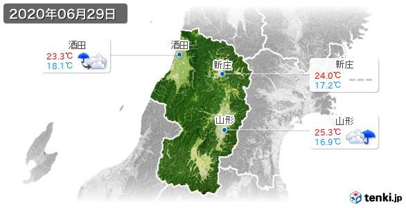 山形県(2020年06月29日の天気