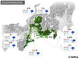 2020年06月30日の東海地方の実況天気