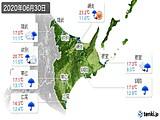 2020年06月30日の道東の実況天気