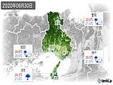 2020年06月30日の兵庫県の実況天気