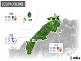 2020年06月30日の島根県の実況天気
