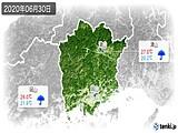 2020年06月30日の岡山県の実況天気