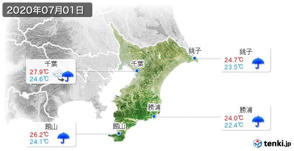 千葉県(2020年07月01日の天気