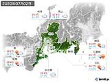 2020年07月02日の東海地方の実況天気