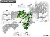 2020年07月02日の近畿地方の実況天気