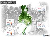 2020年07月02日の兵庫県の実況天気