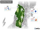 2020年07月02日の山形県の実況天気