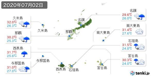 沖縄県(2020年07月02日の天気