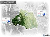 2020年07月03日の埼玉県の実況天気