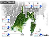 2020年07月03日の静岡県の実況天気