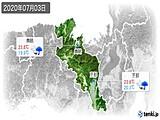 2020年07月03日の京都府の実況天気