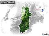 2020年07月03日の奈良県の実況天気