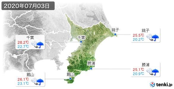 千葉県(2020年07月03日の天気