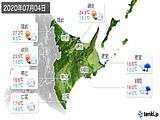 2020年07月04日の道東の実況天気