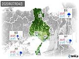 2020年07月04日の兵庫県の実況天気