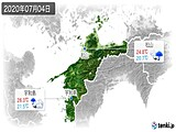 2020年07月04日の愛媛県の実況天気