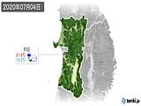 2020年07月04日の秋田県の実況天気