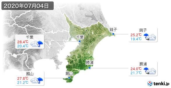 千葉県(2020年07月04日の天気