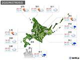 2020年07月05日の北海道地方の実況天気