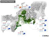 2020年07月05日の東海地方の実況天気